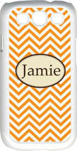 Monogrammed Orange Chevron Design Samsung Galaxy S3 Case Cover - $15.95