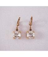 Catherine Popesco 14K Gold Plated Medium Shade Swarovski Crystals Earrings - $39.20