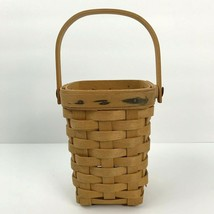 Longaberger Handled Basket 1998 Small American Cancer Society Signed  - $28.04