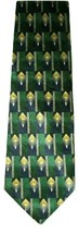 "Club Room ~ Men's Beautiful Silk Neck Tie ~ Green Blue Gold Geo ~ 59"" - $11.87"