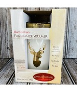 Candle Warmers Illumination Fragrance Golden Stag Deer Light Wax Melts P... - $39.59