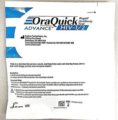 Primary image for Orasure OraQuick HIV-1 & HIV-2 Home Test Kit - FREE DISCREET SHIPPING