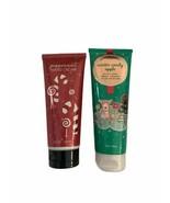 Bath & Body Works Winter Candy Apple Shea Body Cream 8oz & Peppermint Ha... - $29.99