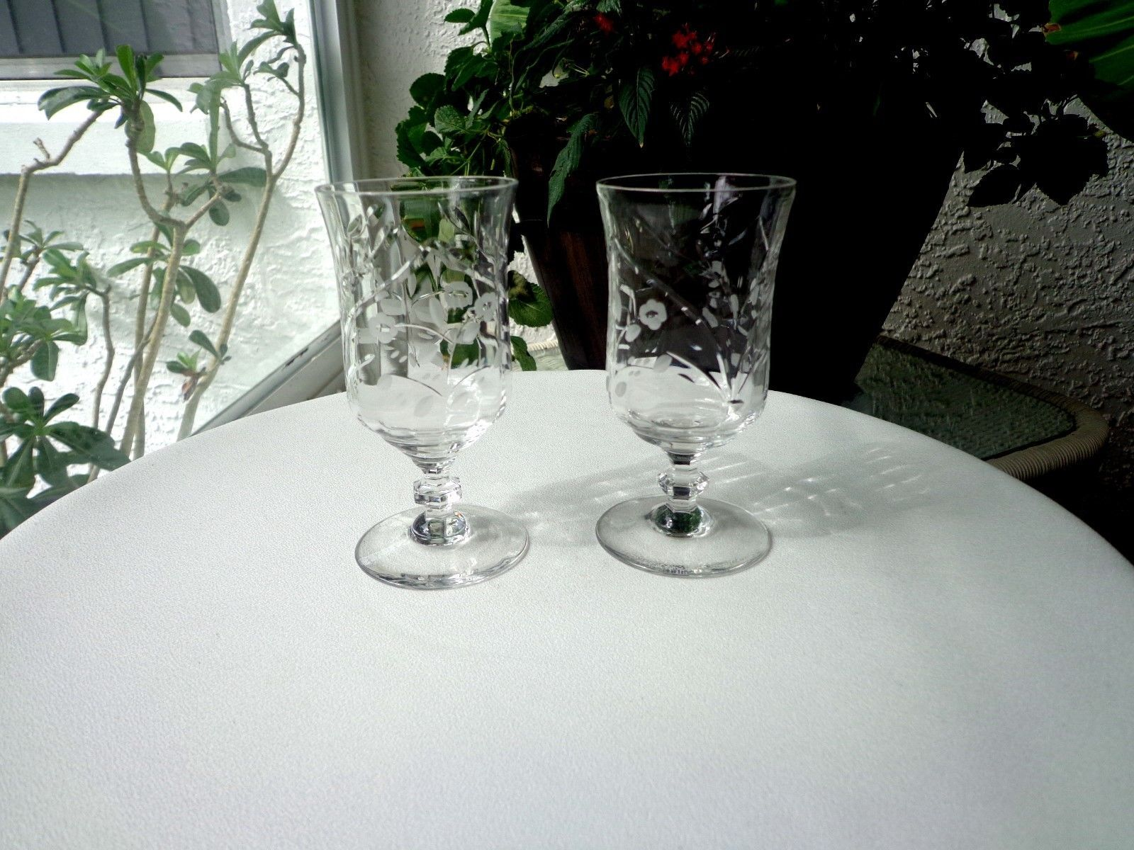 Set of 2 Rock Sharpe Clear Juice Glasses c1940's - $14.85