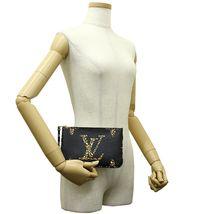 NEW Louis Vuitton Pochette Double Zip Black Jungle Giant Monogram Crossbody Bag image 7