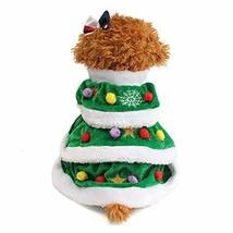 NACOCO Dog Cloak Pet Winter Clothes Christmas Tree Coat Cute and Warm Do... - $16.82