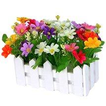 George Jimmy Artificial Flowers Arrangement Room Components Wood Fence Floral De - $24.49