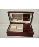Wooden Jewelry Chest w/ Inlaid Floral Designs - $39.99