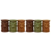 Mini Ceramic Tiki Salt & Pepper Shaker Set 6 pack - $24.94