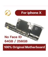 100% Original Motherboard For iPhone X Mainboard Factory Unlock No Face ID  - $217.01+