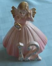 Josef Originals 12 year pink birthday girl figurine EUC - $9.65