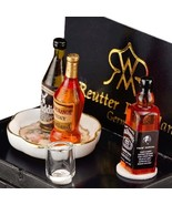 Whiskey Tasting Set 1.851/5 Reutter Dollhouse Miniature - $25.33