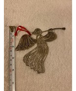 """4"""" Metal Flying Angel With Wings & Trumpet Ornament Vintage Ornament - $19.79"""