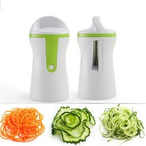Fruit Vegetable Multi-function Rotary Grater Kitchen Gadget Spiral Funnel Cutter