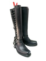 Harley-Davidson Womens Sidewinder Harness Boots Black Leather Size 8 No.... - $154.67