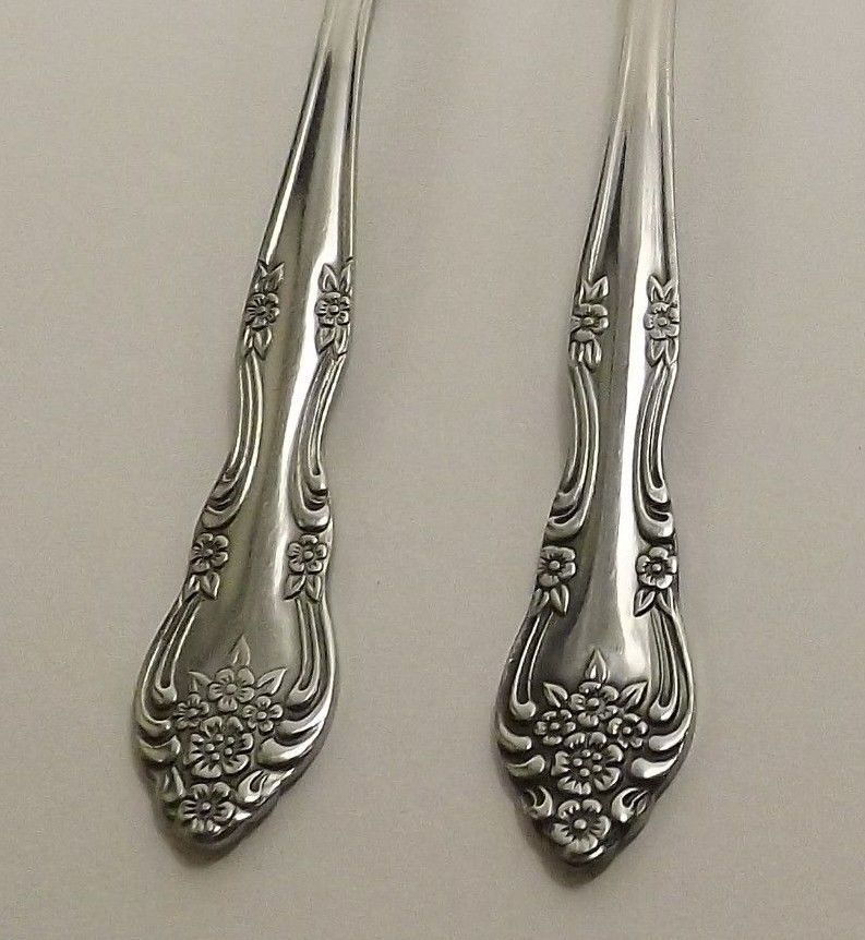 "Primary image for Rogers Stanley Roberts Dream Rose Lot of 6 Stainless Teaspoons 6"" Korea 10 Rose"