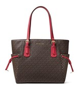 MICHAEL Michael Kors Voyager East West Signature Tote (Brown/Burnt Red) - $292.04