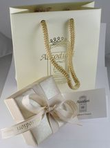 Gold Chain Yellow and White 18k Sailor Stud Long 40 45 50 60 cm 3 MM image 5
