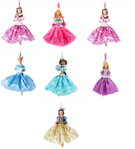 Disney Store Christmas Ornament Belle Aurora Jasmine Snow White Ariel 2017 - $44.95