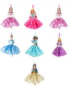 Disney Store Christmas Ornament Belle Aurora Jasmine Snow White Ariel 2017 - $81.35