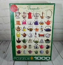 EuroGraphics Jigsaw Puzzle Teapots 1000 Piece Hot Tea Kitchen Sweet Collection - $19.75