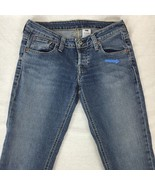 Levi's Demi Straight Jeans Cotton Stretch Low Rise Button Fly VTG USA Si... - $53.36