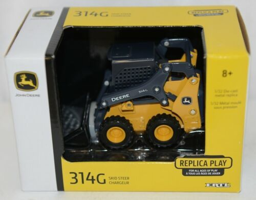 John Deere LP64455 Die Cast Metal Replica 314G Skid Steer