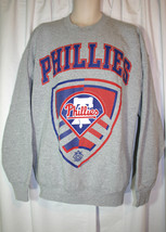 VTG Pro Player XXL 2XL Gray Philadelphia Phillies MLB Long Sleeve Sweats... - $21.54