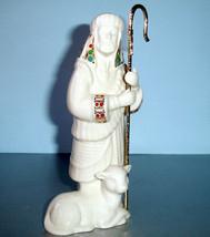 "Lenox China Jewels Nativity Shepherd with Staff & Lamb Figurine 7"" New - $55.90"