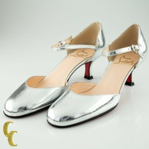 Christian Louboutin Cool Closed Kid Robot Silver Sandals Size 37 w/ Box - $369.97