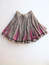 Skirt Flirty Linen Full Circle Skater Skirt S - $21.78