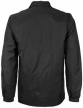 Men's Black Lightweight Water Resistant Windbreaker Coach Jacket w/ Defect  M image 2