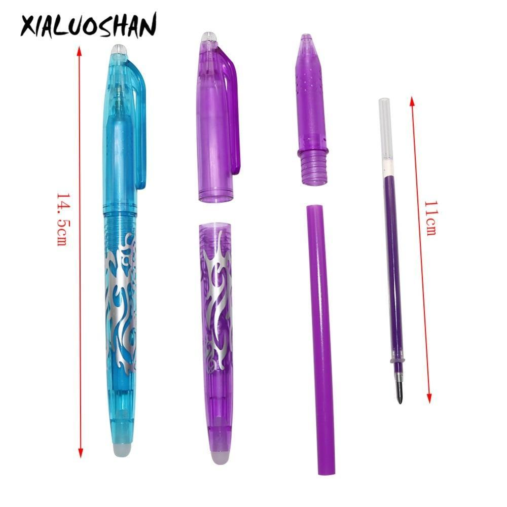 1Pc New 0.5mm Erasable Pen 5 pcs Refills Colorful  8 Color Creative Drawing Tool