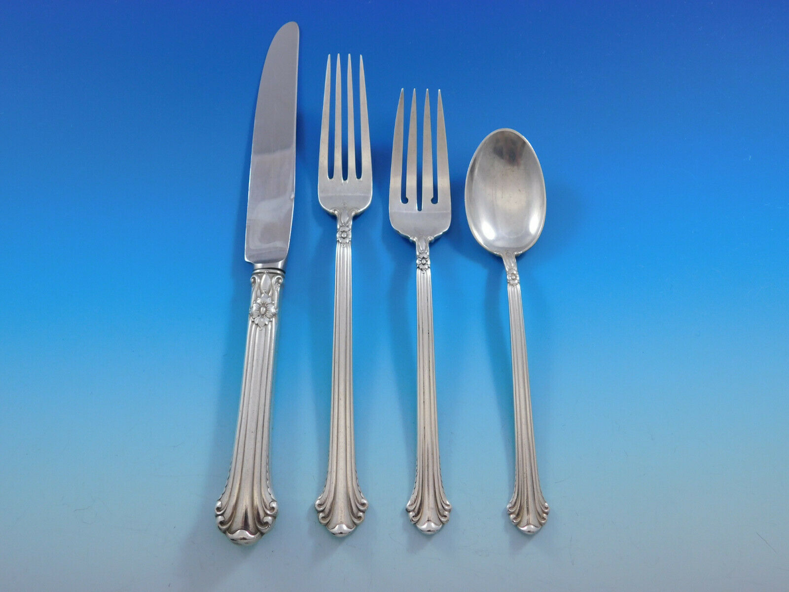 Primary image for Silver Plumes by Towle Sterling Silver Flatware Set for 12 Service 48 pieces