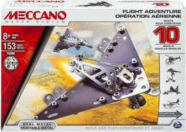 Meccano Building Set 15204 Flight Adventure Jet Planes Metal Constructio... - $12.77