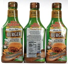 3 Tony Chachere's Famous Creole Style Burger 30 Minute Marinade No MSG 1... - $27.99