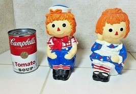 1981 Raggedy Ann & Andy Chalkware Schmid Bookends Vintage - $19.75