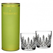 Waterford Giftology Lismore 9oz Tumbler Pair New Gift Canister Hand Sign... - $126.23