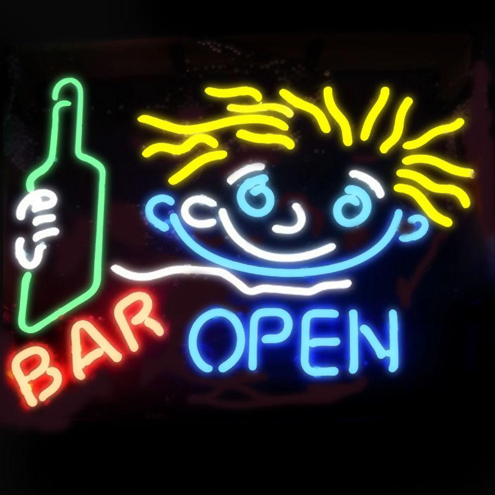 """New Pub Bar Open Beer Bar Neon Light Sign 24""""x20"""""""