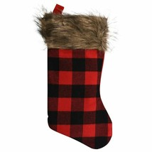 Christmas House Buffalo Plaid Stocking, 17.25-in.  - $2.50