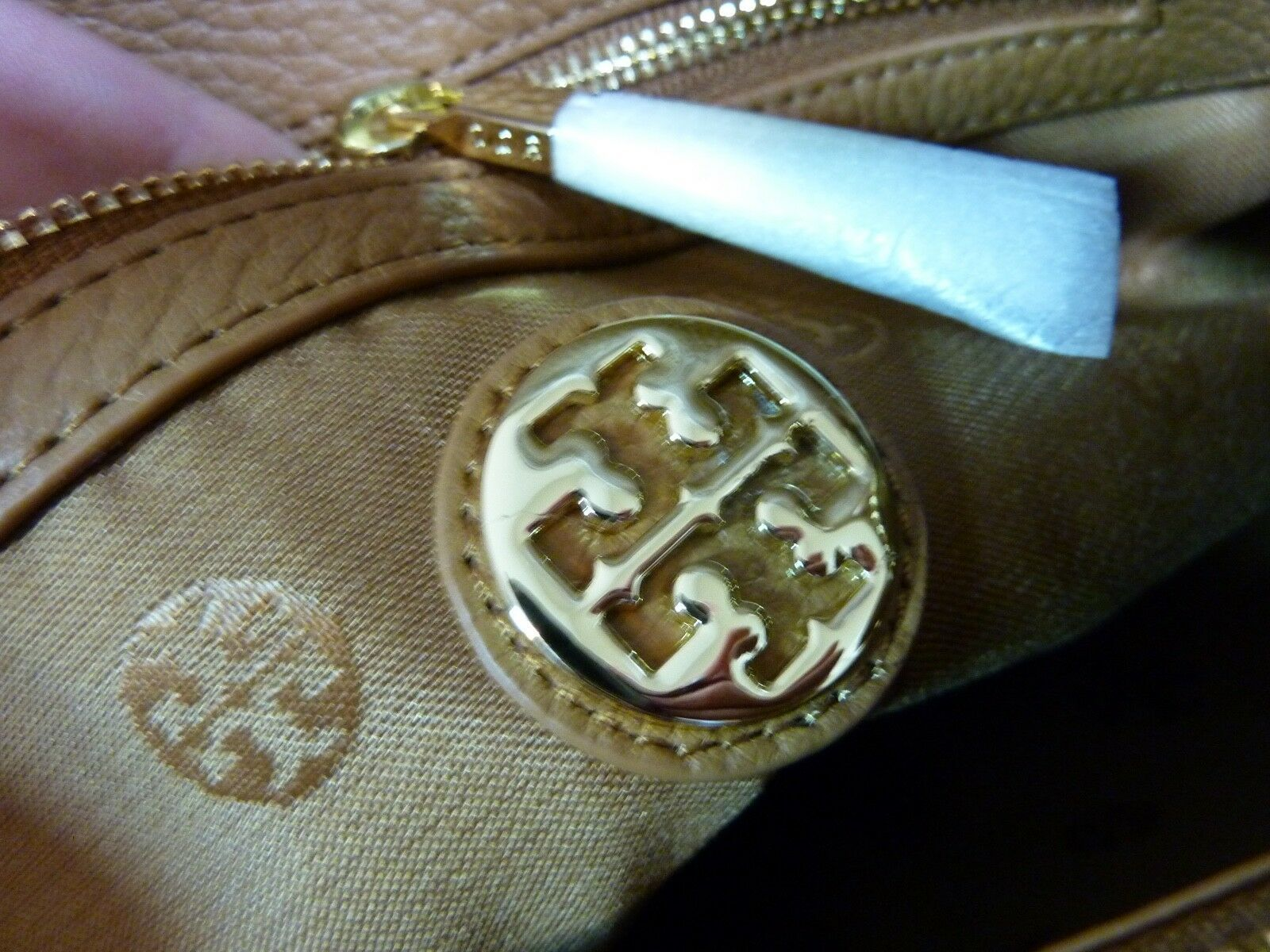 NWT Tory Burch Bark Brown Pebbled Leather Thea Chain Slouchy Tote $495 image 11
