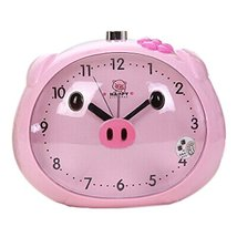 Koala Superstore Children Creative Cartoon Pig Alarm Clock Student Wake Up Clock - $24.97