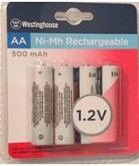 Westinghouse 4 AA Ni-Mh Rechargeable Batteries 1.2V 500 mAh B107014 - $17.79