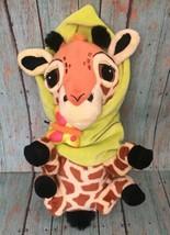 Disneyland Giraffe Wrapped In Leaf Blanket Stuffed Animal Plush Disney B... - $14.84
