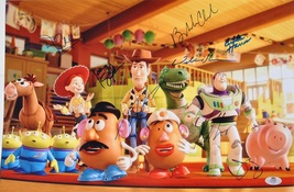 TOY STORY CAST Signed Photo X9 - Tom Hanks, Tim Allen, D Rickles, W Shaw... - $859.00