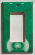 Green Light Man Logo Light Switch Duplex Outlet Wall Cover Plate Home decor image 2