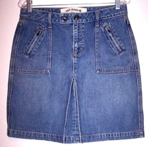 "Gap Skirt 6 Denim Above Knee Length Jeans Medium Wash A-line Women's Waist- 28"" - $12.25"