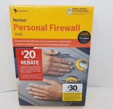 Norton Personal Firewall 2006 Symantec NEW Computer PC Software FREE SHI... - $24.18