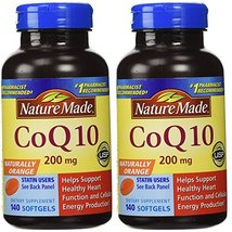 Nature Made, Naturally szmVN Orange CoQ 10 200 mg 140 Softgels (Pack of 2) NJplp - $95.91