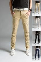 2018 Spring Thin Men's Trousers Long Slim Fit Pants Men 2018 Solid Male ... - $41.82